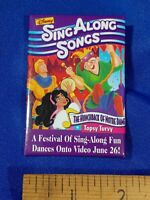 Disney Sing Along Songs Hunchback of Notre Dame PINBACK VIDEO VTG VHS PROMO