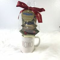 NEW! Rae Dunn XOXO  MUG with Ghirardelli Chocolate RARE LARGE LETTERS IN RED