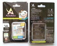 Batteria maggiorata originale ANDIDA 1800mAh x Lg Expo, Monaco GM750 GX200 GX500