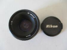 OBJECTIF LENS NIKON AF NIKKOR  50mm 1:1.8 + BOUCHON FRONTAL FRONT CAP
