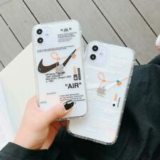 NIKE LOGO Boy Fashion AIR OFF-WHITE Soft Phone Case Cover For Iphone11pro XR SE