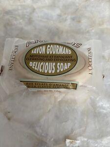 L'OCCITANE SAVON GOURMAND ALMOND DELICIOUS EXFOLIATING BAR SOAP 50G NEW