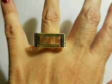 14kt gold Citrine ring with diamonds size 9