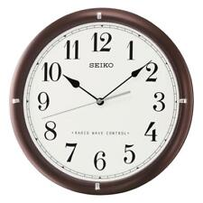 Seiko QXR303B Radio Wave Controlled Seconds Hand Wooden Wall Clock Dark Brown