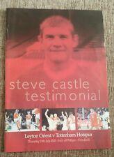 Leyton Orient V Tottenham Hotspur Steve Il Castello testimonial programma 19/07/01