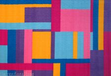 "3x5  Area Rug  Modern Contemporary Tetris Squares  Colorful Size 3'3""x4'10"""