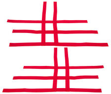 Honda  TRX 450R 300EX 300X   Nerf Bar Nets   fit  Alba  Tusk  Sixity    Red   B