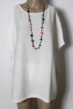 STREET ONE Pullover Gr. 40 creme-weiß Fledermaus Kurzarm Pullover