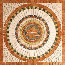 Rosoni rosone mosaico in marmo su rete per interni esterni 66x66 SAHARA ROSSO