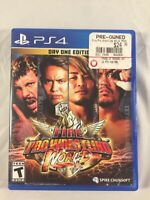 Fire Pro Wrestling World Day One Edition Sony PlayStation 4 PS4 With Manual