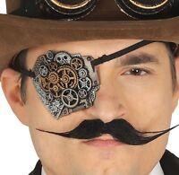 Long John Silver Fancy Dress 83428 Black Beard Pirate Eye Patch