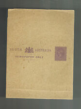 Mint Unused South Australia Postal Stationery Newspaper Wrapper Half Penny