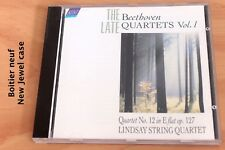 Beethoven Derniers Quatuors Vol 1 Quartet 12 op  127- Lindsay String Quartet- CD
