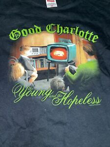 Vintage T Shirt - Good Charlotte The Young And The Hopeless 2002 Size M Concert