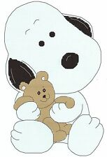 BABY SNOOPY with a TEDDY BEAR  CROSS STITCH PATTERN
