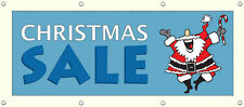 CHRISTMAS SALE BANNER SIGN 96in X 36in NEW RETAIL STORE SALE Multi Color