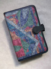 KNIGHTSBRIDGE 80'S FABRIC NAVY LEATHER TRIM STANDARD PERSONAL FILE ORGANISER NEW