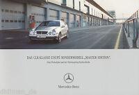Mercedes CLK Coupe Master Edition Prospekt 2001 8/01 brochure broschyr catalog