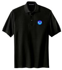 NOAA Logo Embroidered Black Polo Sport Shirt S-5XL