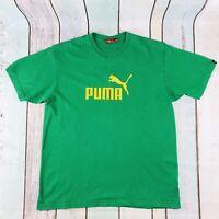 Vintage green men's Puma T-shirt Size Medium M