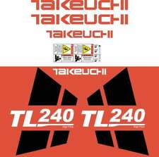 Takeuchi TL240 Decals Stickers Takeuchi Loader Repro Decal Kit