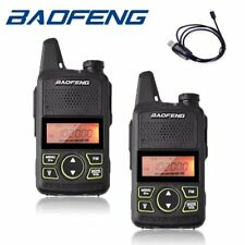 2x Baofeng BF-T1 UHF VHF Walkie Talkie 2 way Radio UHF + Cable GG