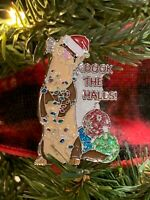 """Holiday Ferret """"Dook the Halls"""" GLITTER Enamel Collector Pin"""