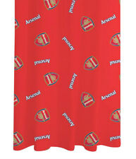 """ARSENAL RED MULTI CREST 66"""" x 72"""" PENCIL PLEAT READY MADE 100% COTTON CURTAINS"""