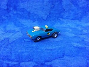 $1-7 Day Original Aurora BLUE Pontiac Firebird Tjet HO Slot Car Racer/Runner SEE