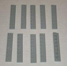 LEGO NEW 1x8 Light Bluish Grey Plate with Door Rail (10x) 4211498 Brick 4510