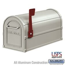Salsbury Industries Antique Rural Mailbox - Nickel-MAILBOX 4850A-NIC Mail Box