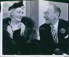 Vintage Billie Burke Roland Young Irene Scene Comedy Rko Actor Photo 7X9