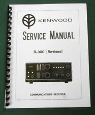 "Kenwood R-300 Service Manual: w/ 11""X17"" Foldout Color Schematic & Plastic Cover"