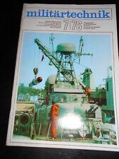 Militärtechnik 7/1976, Zeitschrift der Land-, Luft- und Seestreitkräfte NVA DDR