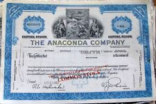 2 different. Stock certificate Anaconda Copper Mining Company. State of Montana
