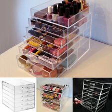 Large 6 Tier Acrylic Cosmetic Makeup Organizer Clear Drawers Beauty Storage Case