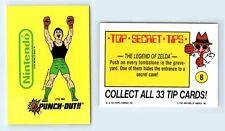 1989 Nintendo Game Pack Topps Sticker Card #8 Little Mac