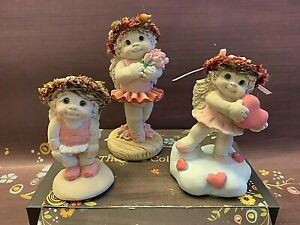 DREAMSICLES Standing Ovation Ballerina Angel Pretty Pink Figurines Lot of 3