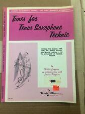 Tunes for Tenor Saxophone Technic: Level 3 (Advanced Intermediate)