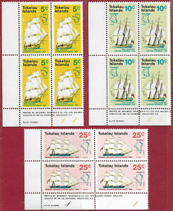 Tokelau 1971 Set [3] Discovering the Islands imprint/plate blocks 4 sg 22-4 MNH