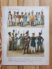 German Costume - c1800 - Fashion History, Original Print, Art, Military uniforms