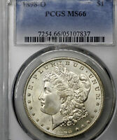 1898-O MS66 Morgan Silver Dollar $1, PCGS Graded