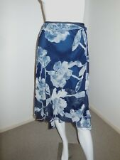 JACQUI. E    GREY AND BLACK FLORAL SKIRT SIZE 16