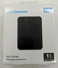 New WD Elements 1TB External Hard Drive - AW0096