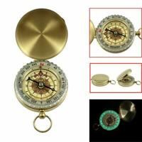 Pocket Brass Watch Style Outdoor Hiking Camping Navigation Compass Ring 50*16mm