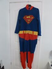 Men's Hooded SUPERMAN, All in one, sleepsuit, pyjamas, babygrow - Sizes L
