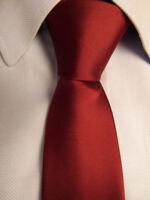 Men's Jaan J Red Silk Skinny Tie Hand Made A28151