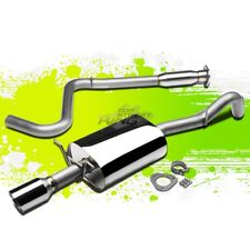 FOR 08-10 COBALT SS TURBO 4 ROLLED TIP FULL STAINLESS STEEL CAT BACK EXHAUST KIT