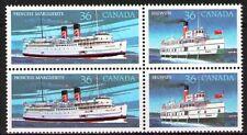 Canada 1987 Sc1140a Mi1052-53 4.00 MiEu 1block mnh Steamships
