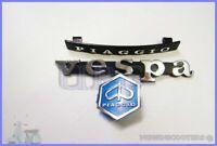 VESPA PX LML T5 VESPA LEGSHEILD & HORN CAST BADGE/LOGO EMBLEM  KIT